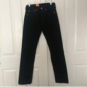 Nwt Mens Levi's 501  Rigid black Jeans 29 by 34